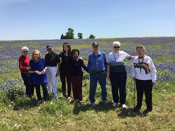Bluebonnet trip with senior living houston residents