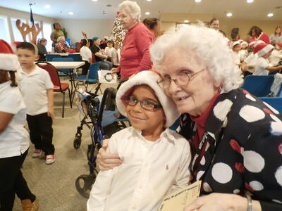 Carmin assisted living houston resident_xmas with Olivia