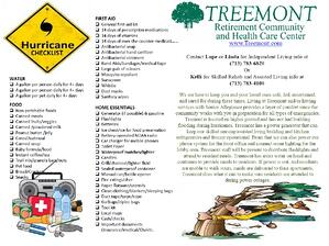 Emergency Preparedness Tips at Treemont senior liviing Houston community