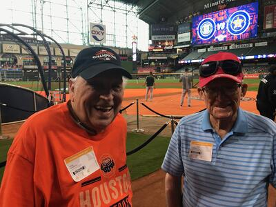 Treemont senior living houston veterans at astros game2